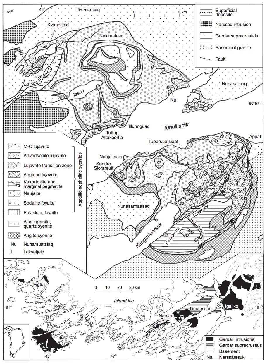 Ilimaussaq complex (from Sorensen 2001)